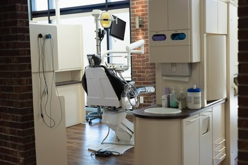 Professional dentistry chair in dental clinic