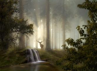 Foto auf Gartenposter Beige Waldgeheimnisse