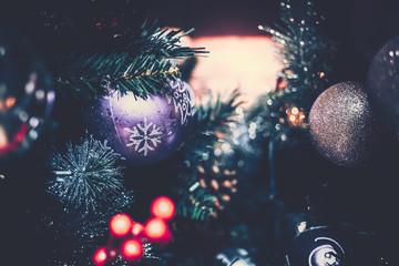 Background of Christmas Decoration on vintage style