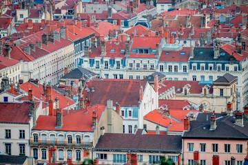 Vue de Lyon depuis la Mulatière