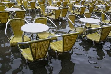 Acqua alta  a Piazza San Marco, Venezia