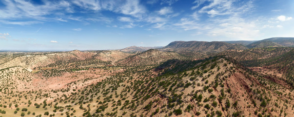 Mountains with argan trees in Morocco