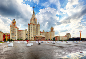 Lomonosov Moscow State University - MSU. MSU is one of Seven Sisters. Russia