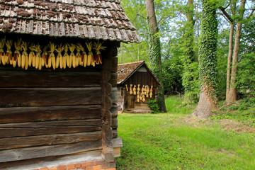 Spreewald, barn, corncob, Scenic, Germany