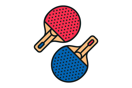set of playing rackets for ping-pong icon