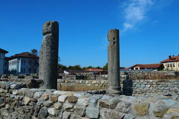 Fototapeten Ruinen roman ruin pillar