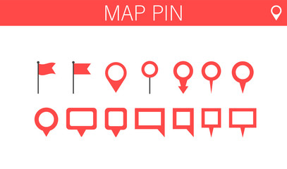 Wall Mural - World map Pins collection set. Vector illustration.