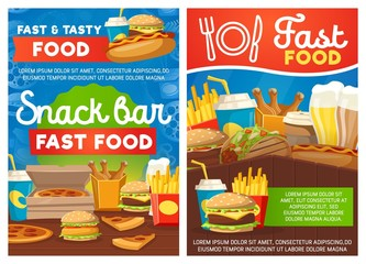 Snack bar or fastfood street meals