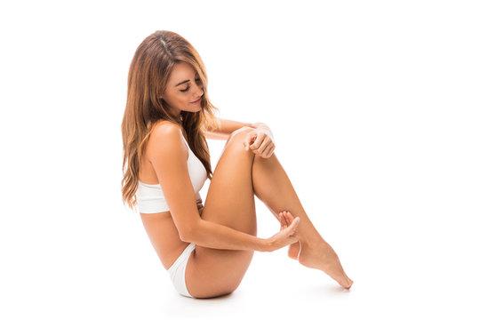 Model Enjoying Her Gentle Skin