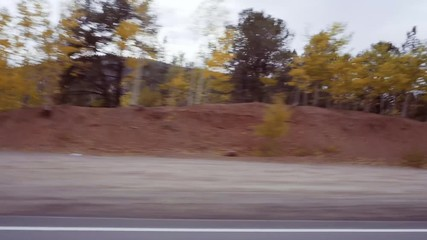 Wall Mural - Driving on mountain highway 67 to Colorado Springs in Autumn.