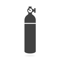 Oxygen cylinder tank icon vector