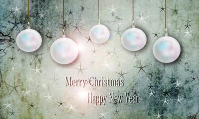 Biglietto auguri Natale e anno nuovo, San Silvestro.