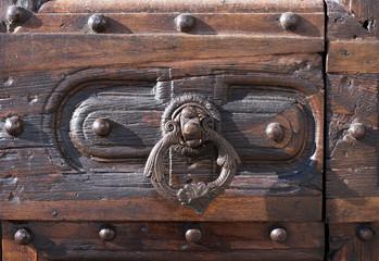 image of an ancient medieval wooden door