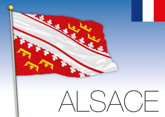Alsace regional flag, France, vector illustration