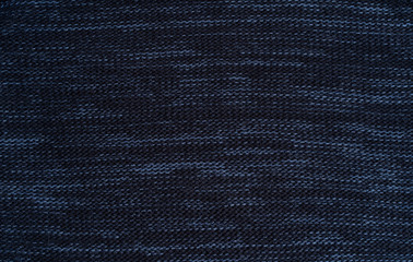background of dark blue warm wool knitted clothes