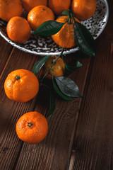 Fresh delicious mandarin oranges fruit or