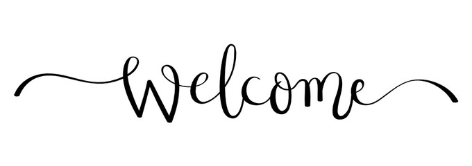 WELCOME brush calligraphy banner Wall mural