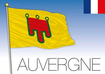 Auvergne regional flag, France, vector illustration