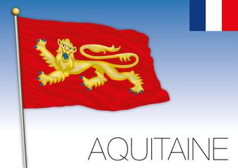 Aquitaine regional flag, France, vector illustration