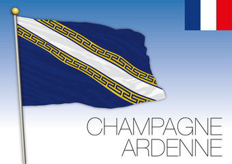 Champagne Ardennes regional flag, France, vector illustration