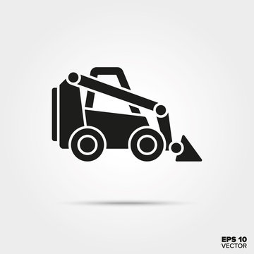 Skid loader vector icon