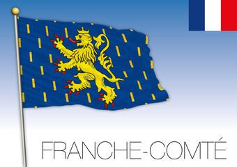 Franche Comtè regional flag, France, vector illustration