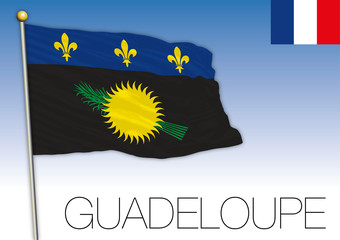 Guadeloupe regional flag, France, vector illustration