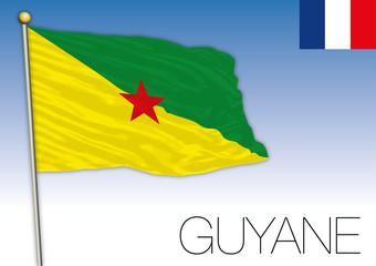 Guyane regional flag, France, vector illustration