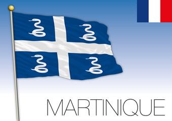 Martinique regional flag, France, vector illustration