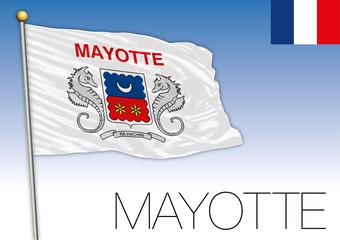 Mayotte regional flag, France, vector illustration