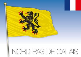 Nord Pas de Calais regional flag, France, vector illustration