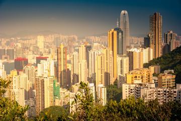 Cityscape of modern skyscraper in Hong Kong.