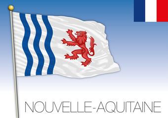 New Aquitaine regional flag, France, vector illustration
