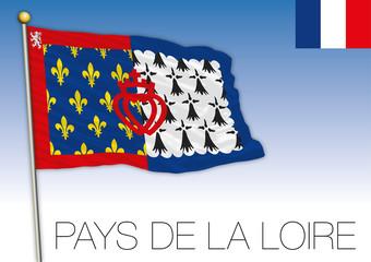 Pays de la Loire regional flag, France, vector illustration