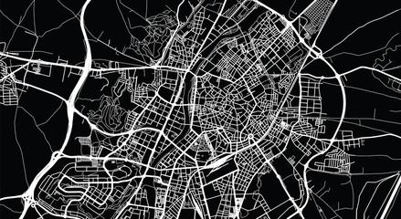 Urban vector city map of Valladolid, Spain