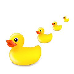 Rubber Duck Isolated White Background