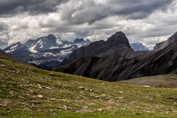 Fototapete - Canadian Rockies.  Views of the mountains & glaciers located in Peter Lougheed Provincial Park, Alberta.  Taken from the famous Northover Ridge route