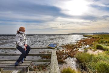 Aussicht am Wattenmeer auf Insel Amrum