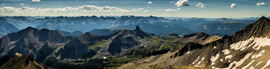 Fototapete - San Juan Mountains located near Telluride, Colorado Rocky Mountains.  Featured is Lizardhead Peak, taken from the summit of Gladstone Peak