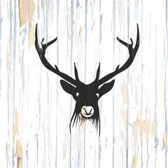 Vintage deer icon