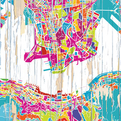 Colourful Hong Kong map