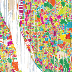 Colorful Liverpool map