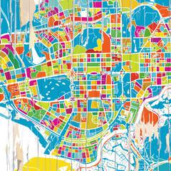 Colorful Shenzen map