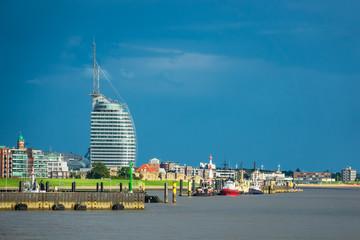 Blick auf die Stadt Bremerhaven