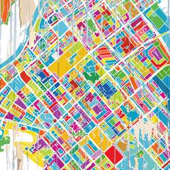 Abu Dhabi Colorful map