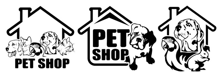 Pet Logo with animals