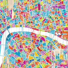 London Colorful map