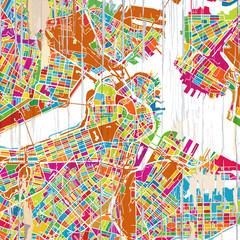 Boston Colorful map
