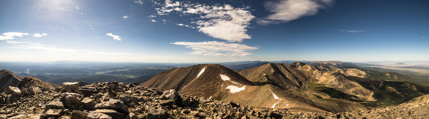 Fototapete - View from Culebra Peak, a Colorado Rocky Mountain