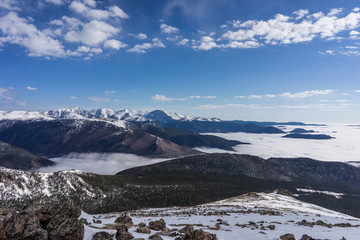 Wall Mural - Breathtaking View Above the Clouds in Rocky Mountain National Park, Colorado